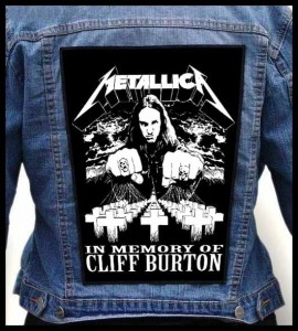 METALLICA - In Memory Of Cliff Burton -- Backpatch
