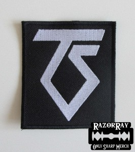 TWISTED SISTER [white] -- Embroidered Patch
