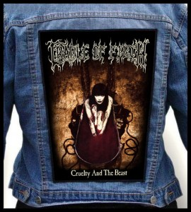 CRADLE OF FILTH - Cruelty and the Beast -- Backpatch