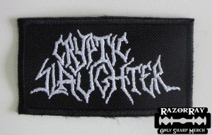 CRYPTIC SLAUGHTER [white] -- Embroidered Patch