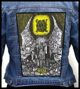 NAPALM DEATH - Scum -- Backpatch