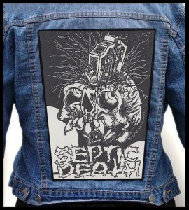 SEPTIC DEATH - Somewhere In Time -- Backpatch