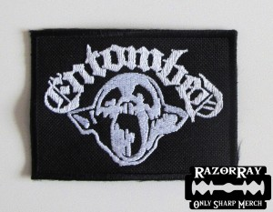 ENTOMBED [white] -- Embroidered Patch