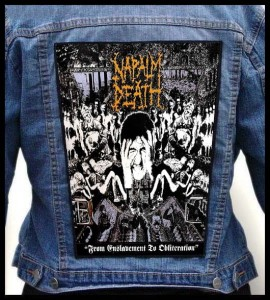 NAPALM DEATH - From Enslavement to Obliteration -- Backpatch