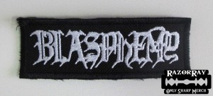 BLASPHEMY [white] -- Embroidered Patch