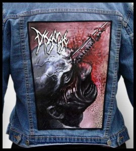 DISGORGE - Cranial Impalement -- Backpatch