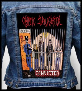 CRYPTIC SLAUGHTER - Convicted -- Backpatch
