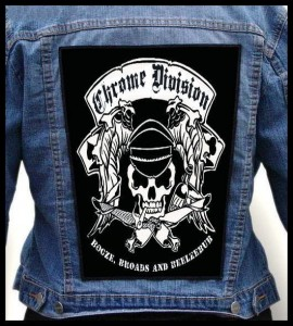 CHROME DIVISION - Booze, Broads and Beelzebub -- Backpatch
