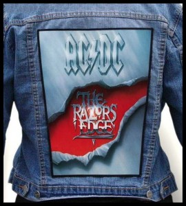 AC DC - The Razors Edge -- Backpatch