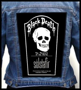 SOLSTAFIR - Black Death -- Backpatch