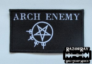 ARCH ENEMY [white] -- Embroidered Patch