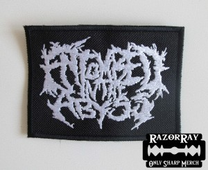 ENTOMBED IN THE ABYSS [white] -- Embroidered Patch