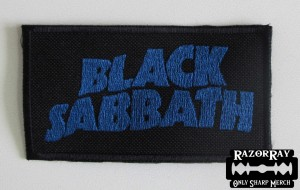 BLACK SABBATH [blue] -- Embroidered Patch