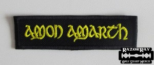 AMON AMARTH [yellow] -- Embroidered Patch
