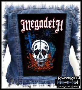 MEGADETH - Skull -- Backpatch