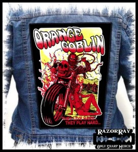 ORANGE GOBLIN - They Live Hard... -- Backpatch