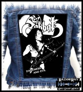 SABBAT - Darkness And Evil -- Backpatch