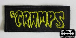 THE CRAMPS [yellow] -- Embroidered Patch
