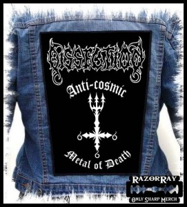 DISSECTION - Anti-Cosmic Metal Of Death -- Backpatch