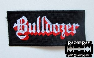 BULLDOZER -- Embroidered Patch
