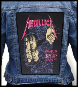 METALLICA - Hammer Of Justice Crushes You -- Backpatch