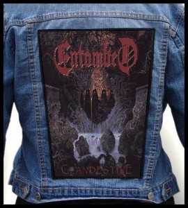 ENTOMBED - Clandestine -- Backpatch