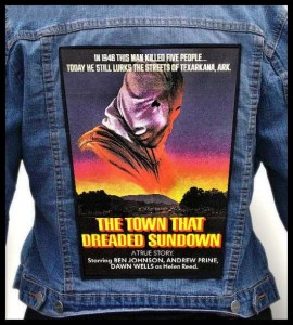 THE TOWN THAT DREADED SUNDOWN -- Backpatch