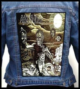 AXEGRINDER - The Rise of the Serpent Men -- Backpatch