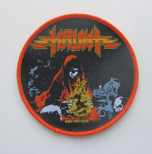 HAUNT - Burst into Flame --- woven patch.JPG