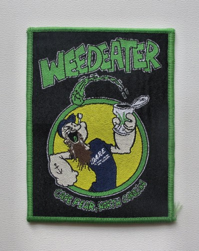 WEEDEATER Cape Fear [green border] --- woven patch.JPG