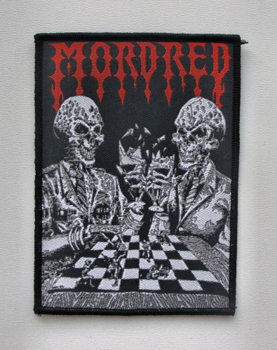 MORDRED [black border] --- woven patch.JPG