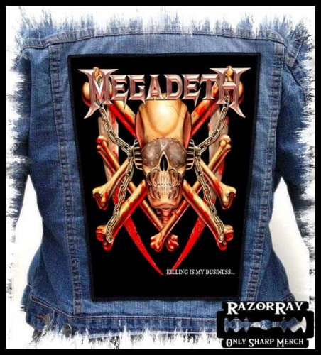 MEGADETH - Killing Is My Business... --- Backpatch Back Patch.jpg