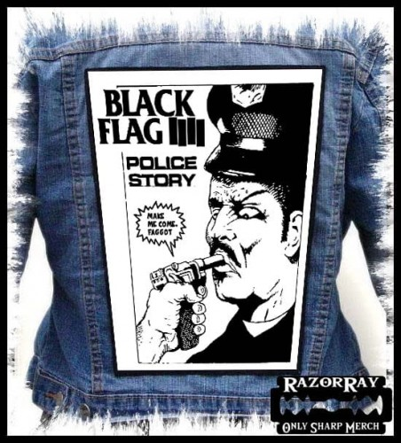 BLACK FLAG - Police Story -- Backpatch Back Patch.jpg
