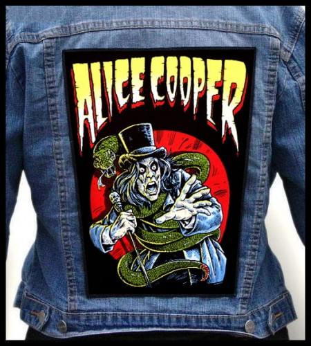 IRON ON CLASSIC ROCK MUSIC d TWO ALICE COOPER PATCHES SEW