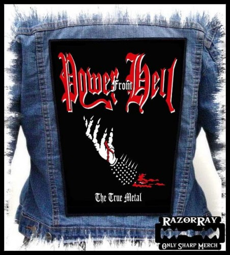 POWER FROM HELL - The True Metal -- Backpatch Back Patch.jpg