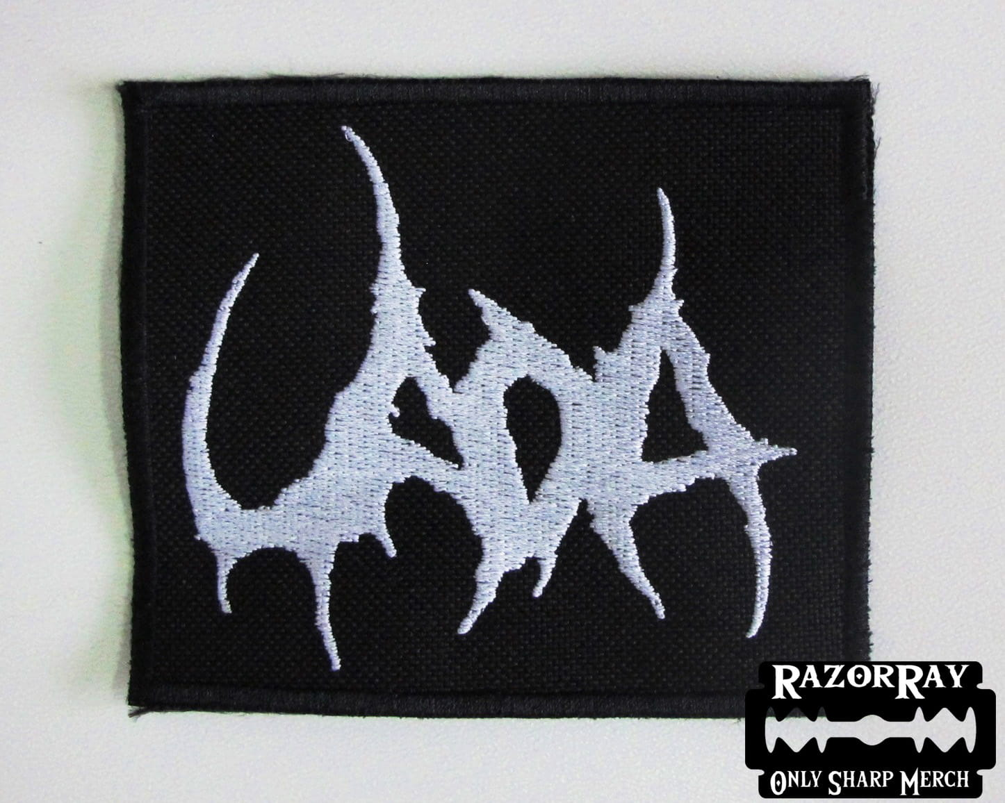 UADA,SEW ON WHITE EMBROIDERED PATCH